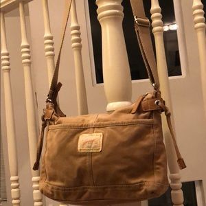Authentic Fossil Fabric Shoulder Bag